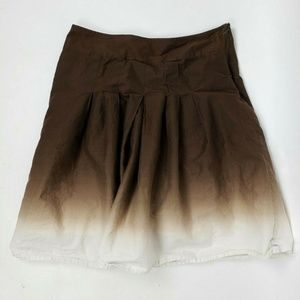 ANN TAYLOR Brown Ombre Skirt Size 4